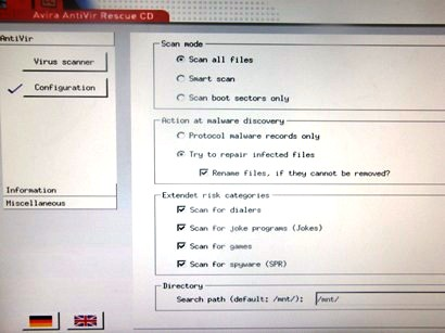 27. avira rescue settings