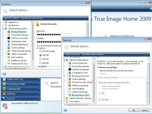 acronis true image password