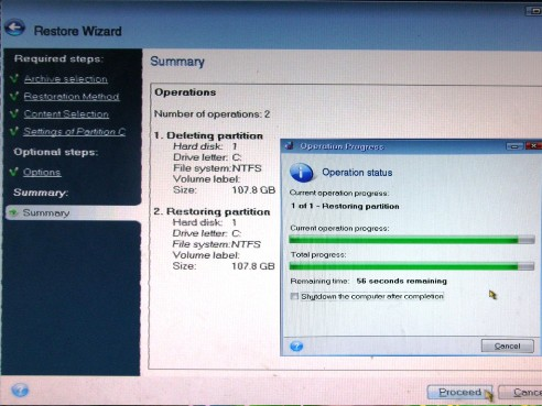 arvuti taastamine varasemasse aega