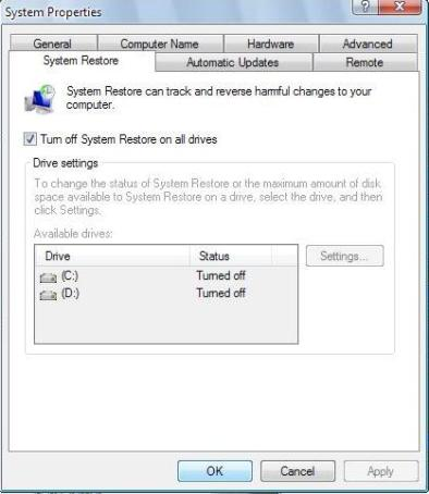 sys restore