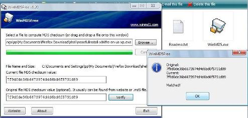 check the integrity of file, and verify download