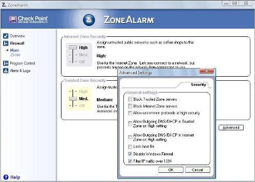 Arvuti kaitseliin ZoneAlarm
