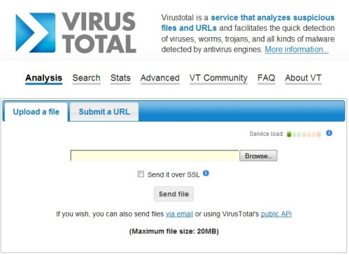 Virus total file scanner