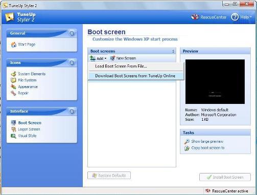 change boot screen