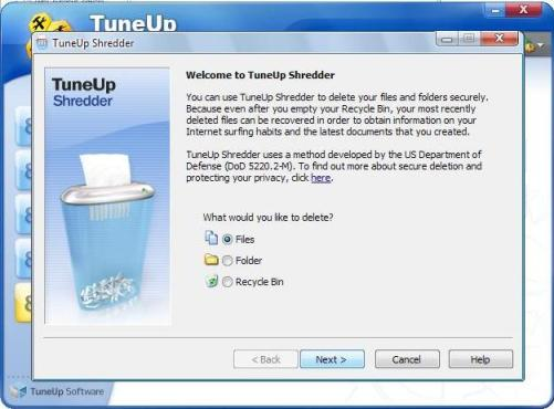 tuneup utilities shredder