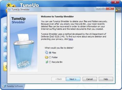 tuneup utilities shredder