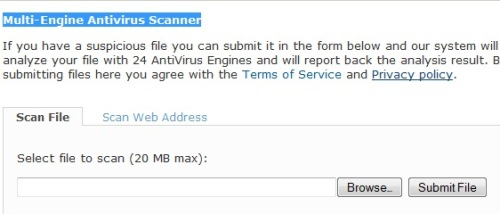 antivirus file scanner