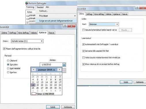 automatic Defragmentation utility