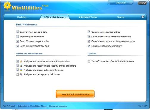 automatic cleaner - 1-Click Maintenance