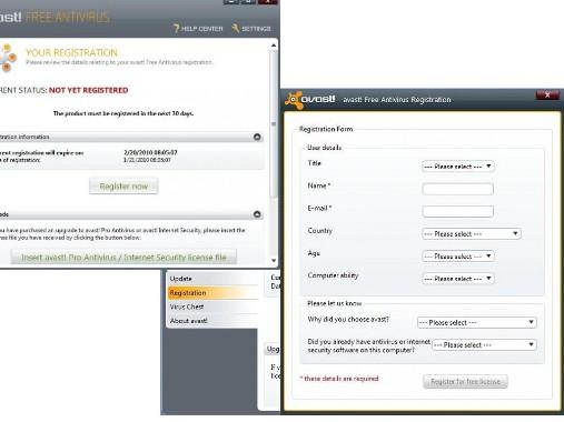 Tasuta AVAST! Antivirus 5 Free ja viirusetõrje registreerimine aastaseks kasutamiseks (4/6)