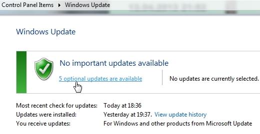 Draiverite allalaadimine Windows