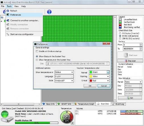 Hard drive error checking