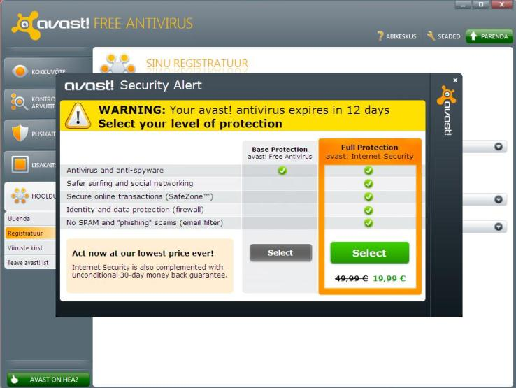 How to register Avast Free Antivirus for one year