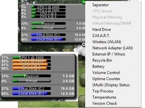 süsteemi andmed arvuti ekraanile