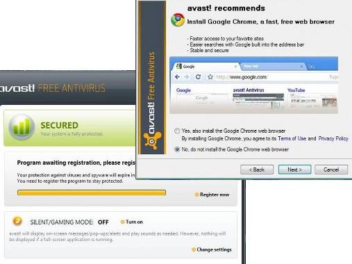 Tasuta AVAST! Antivirus 5 Free ja viirusetõrje registreerimine aastaseks kasutamiseks (3/6)