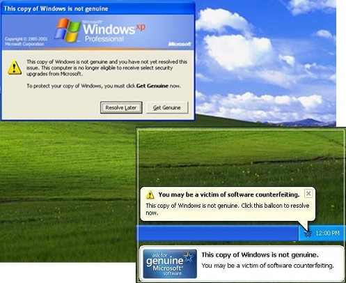 windows genuine - this copy is not genuine
