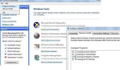 windows standard tools