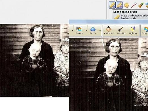 vanade piltide ja fotode restaureerimine