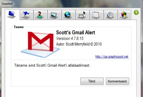 scottś gmail alert, gmail notifier Windows 7, Vista, XP