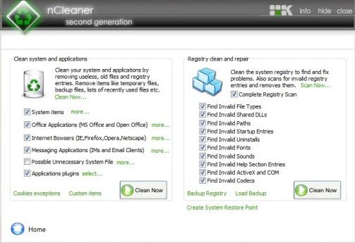 system optimizer registry cleaner
