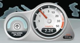 internetiühenduse kiiruse testimine
