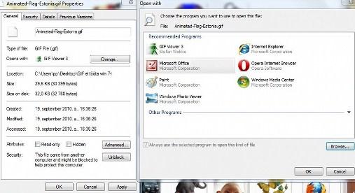 kui windows 7 ei näita, ei mängi animeeritud gif faile
