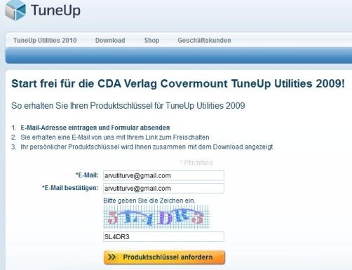 tuneup utilities 2009 tasuta litsents, programmi avamiskood