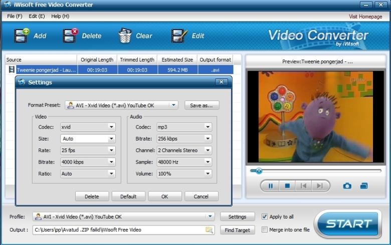 videote konvertimine