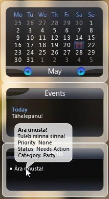 Desktop calendar Free for Windows, Linux and Mac OC X