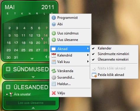 Tasuta kalender ekraanile