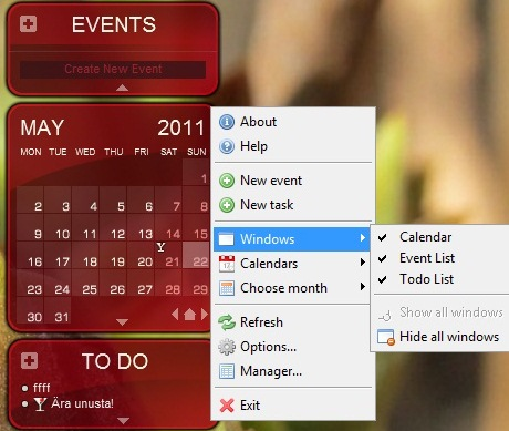 Best free calendar to desktop