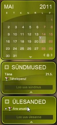 Kalender meelespidamiseks tähtpäevi