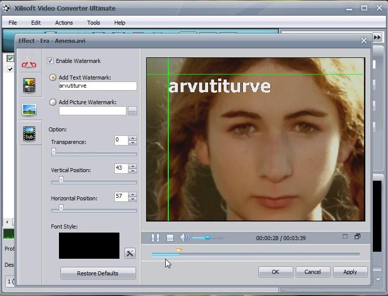 Video töötlus, töötlemine