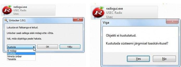 Eesti keeles lukustatud failide kustutaja