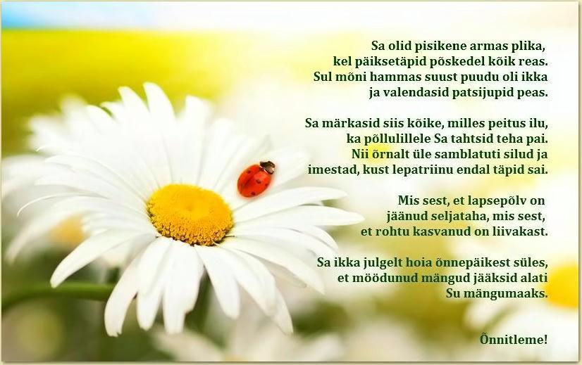 koolilõpu luuletused