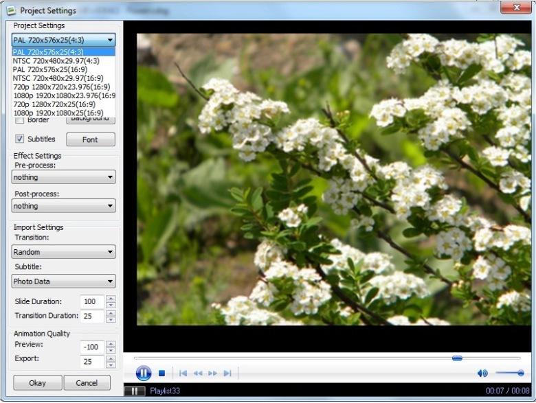 Slaidiseanss tasuta DVD Slideshow GUI abil