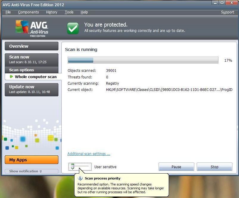 Viirusetõrje AVG Anti-Virus Free uus 2012 a. versioon – installeerimine ja funktsioonid (5/6)