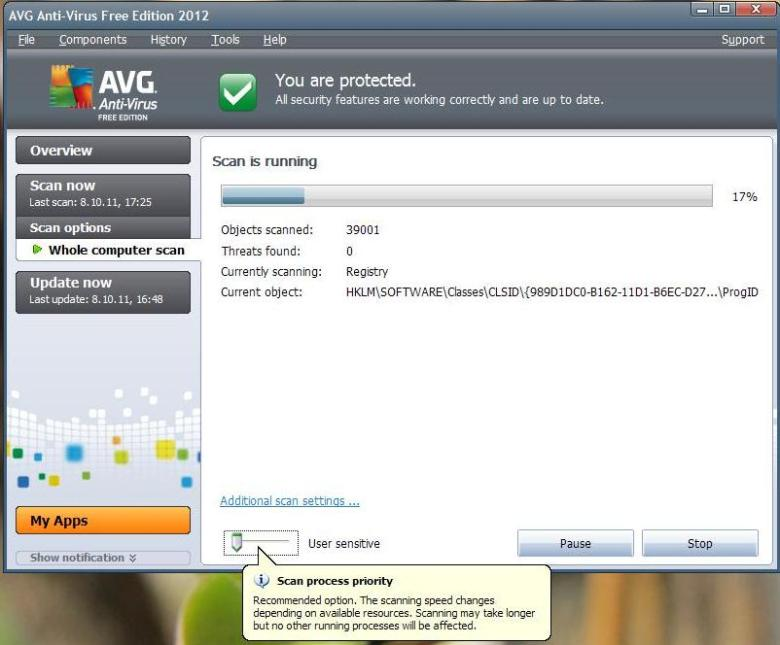 Freeware AVG antivirus NEW 2012 version