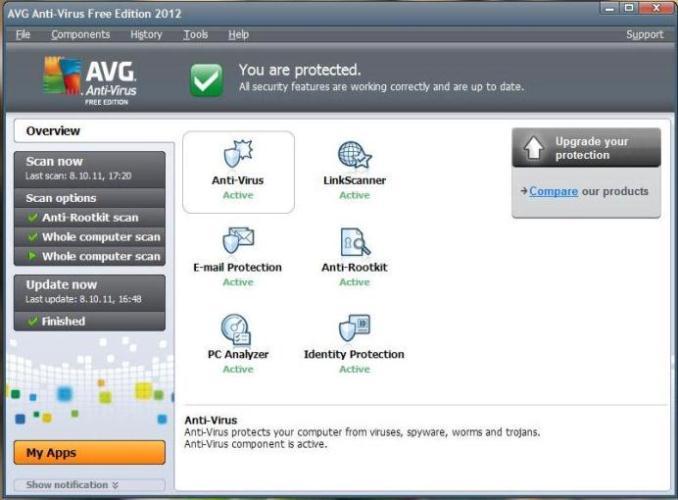 7b5e3372bcd Viirusetõrje AVG Anti-Virus Free uus 2012 a. versioon ...