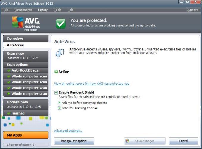 Viirusetõrje AVG Anti-Virus Free uus 2012 a. versioon – installeerimine ja funktsioonid (3/6)