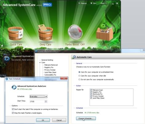 Arvuti hooldus ja puhastamine automaatselt