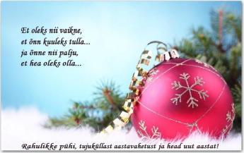 Jõulukaardid ja -luuletused saatmiseks