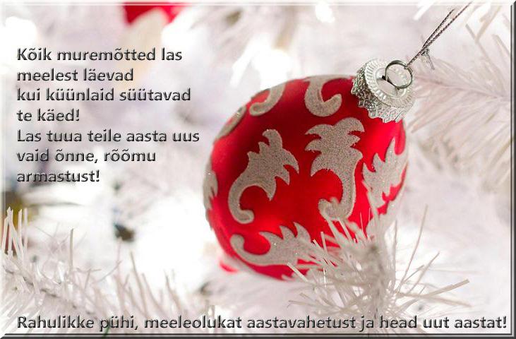 Jõulukaardid, jõulusalmid ja luuletused jõuludeks, jõulupühade- ja aastavahetuse soovid (3/6)