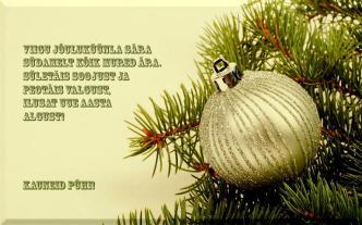Jõulukaardid ja jõulusalmid pühadeks