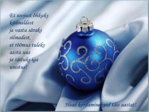 Head uut aastat salmid ja luuletused