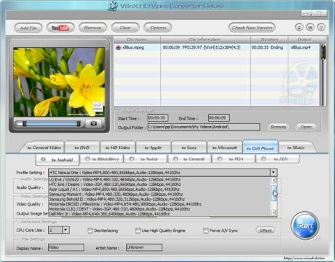 Videote konverteerimine mobiiltelefonidesse