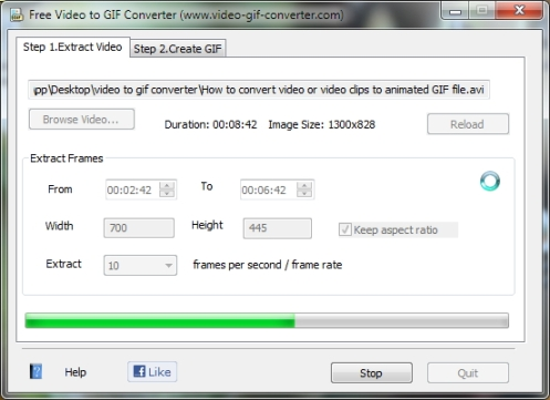 Convert video to animated GIF