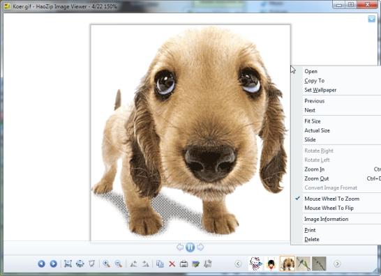 Windows 7-ga animeeritud GIF failide vaatamine