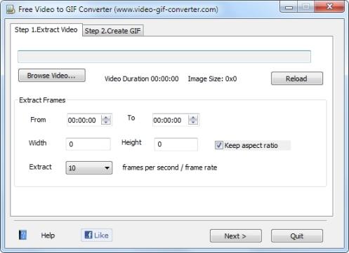 Videoklipi teisendamine animeeritud GIF failiks