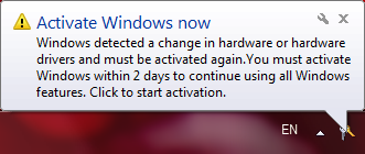 Windows aktiveerimine, valideerimine